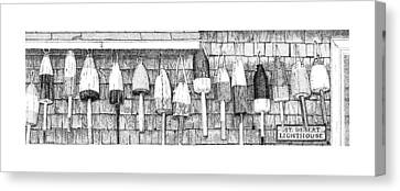 Lobster Buoys Canvas Print by Philip LeVee