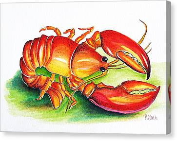 Lobster Canvas Print by Patricia Piffath