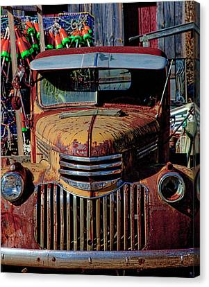 Lobster Pots And Chevys Canvas Print