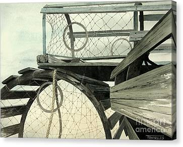 Lobster Traps Canvas Print by Frank Townsley