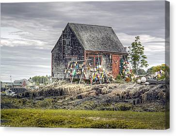 Canvas Print featuring the photograph Lobsterman's Shack Of Mackerel Cove by Richard Bean