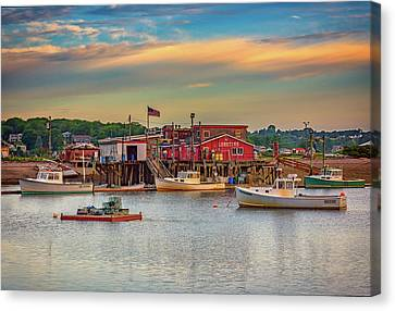 Canvas Print featuring the photograph Lobsters by Rick Berk