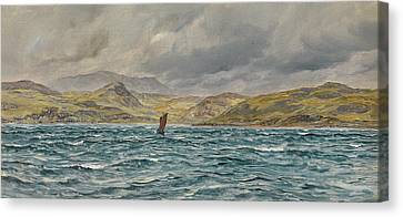 Loch Beag, Skye Canvas Print by John Brett