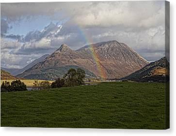 Loch Eilde Mor Rainbow Canvas Print by Jim Dohms