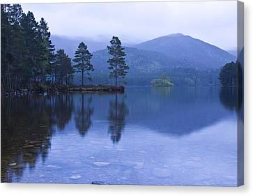 Canvas Print featuring the photograph Loch Garten In The Cairngorms Scotland by Gabor Pozsgai