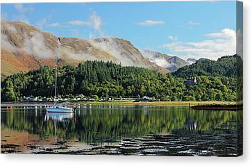 Canvas Print featuring the photograph Loch Leven Glencoe by Grant Glendinning