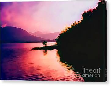 Loch Lien Oil Effect Image Canvas Print by Tom Prendergast