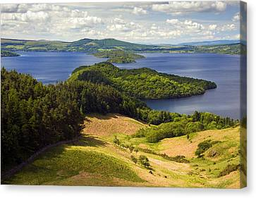 Loch Lomond From Conic Hill Canvas Print by John McKinlay