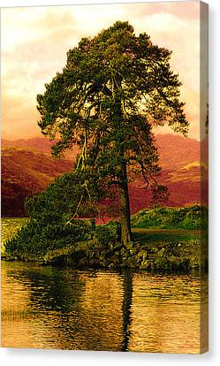 Loch Lomond Gloaming Canvas Print by Rianna Stackhouse