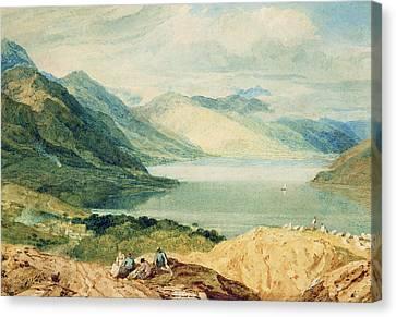 Loch Lomond Canvas Print by Joseph Mallord William Turner