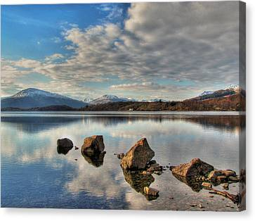 Loch Lomond Canvas Print by Fiona Messenger