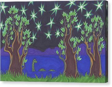 Loch Ness Night Canvas Print by James Davidson