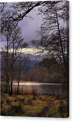 Canvas Print featuring the photograph Loch Venachar by Jeremy Lavender Photography