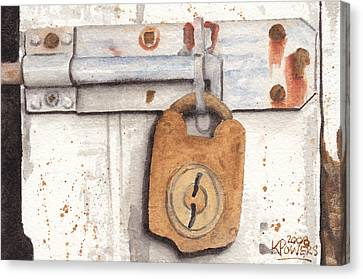 Lock And Latch Canvas Print by Ken Powers