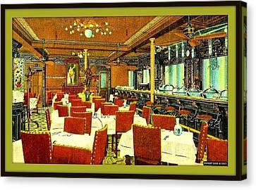 Locke- Ober Cafe And Restaurant, Boston Ma, 1910 Canvas Print