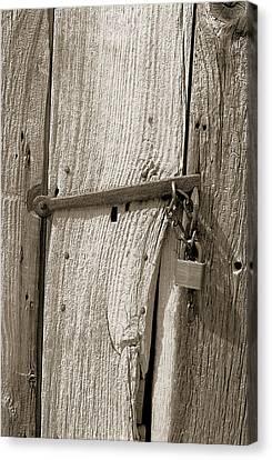 Locked Door Canvas Print by Pat Carosone