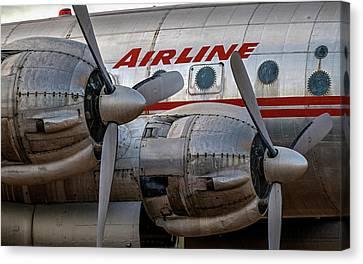 Lockheed Connie Faded Glory Canvas Print
