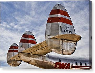 Lockheed Constellation Canvas Print by Carol Leigh