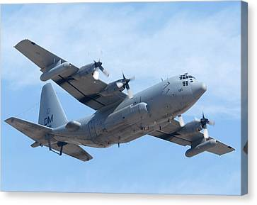 Lockheed Ec-130h Compass Call Hercules 73-1584 Davis-monthan Afb Arizona March 8 2011 Canvas Print by Brian Lockett