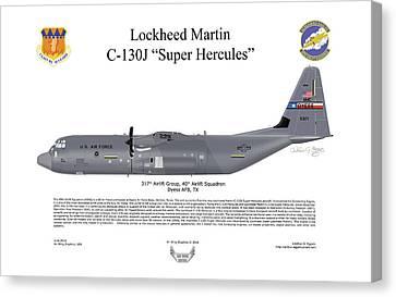 Lockheed Martin C-130j-30 Super Hercules Canvas Print by Arthur Eggers