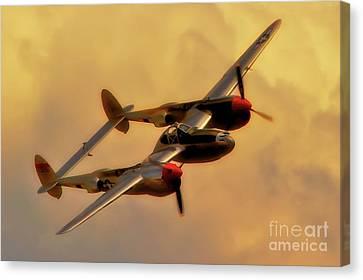 Lockheed P-38 Lightning 2011 Chino Air Show Canvas Print