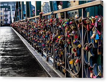 Locks Of Lock Bridge Canvas Print