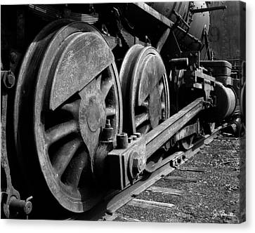 Locomotive Canvas Print by Joe Bonita