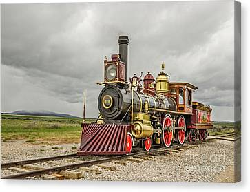 Canvas Print featuring the photograph Locomotive No. 119 by Sue Smith