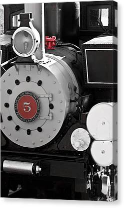 Locomotive Number Five Canvas Print by Colleen Coccia