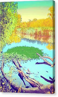Lodi Lake Watercolor Four Canvas Print