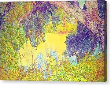 Lodi Lake Watercolor Three Canvas Print