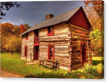 Log Cabin Dog Trot  Canvas Print by Paul Lindner