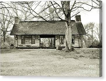 Log Cabin @ Belle Meade Plantation Canvas Print