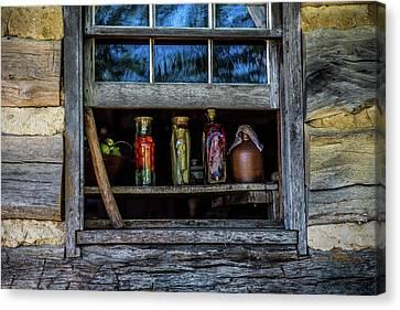 Log Cabin Interiors Canvas Print - Log Cabin Window by Paul Freidlund