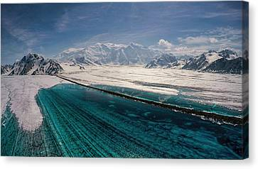 Logan Glacier Meltwater Canvas Print