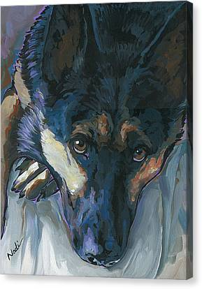 Canvas Print featuring the painting Logan by Nadi Spencer