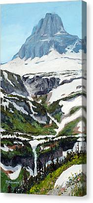 Logan Pass Canvas Print by Mary Giacomini