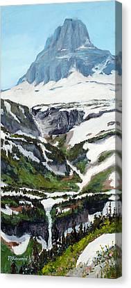 Logan Pass Canvas Print by Mary Giacomini