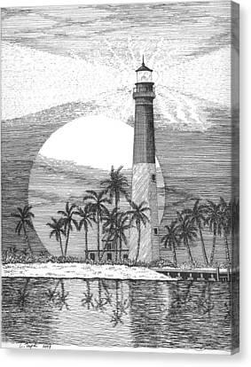 Loggerhead Key Lighthouse Canvas Print by Lawrence Tripoli