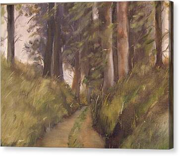 Logging Road Canvas Print