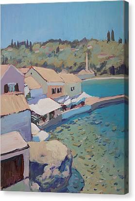 Loggos Pier View Canvas Print