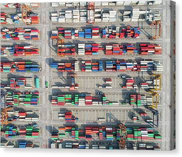 Industrial Background Canvas Print - Logistic Hub by Anek Suwannaphoom