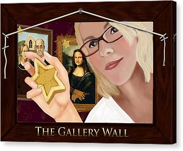 Cj Canvas Print - Logo For The Gallery Wall  by Maggie Terlecki