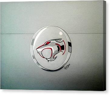 Thundercats Canvas Print - Logo Thundercats Glass 3d by Giorgio Valencia