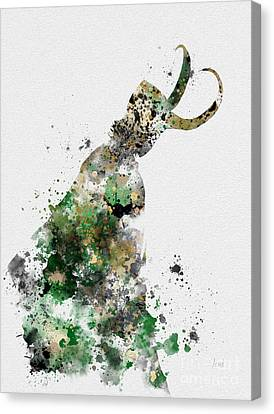 Comic. Marvel Canvas Print - Loki by Rebecca Jenkins