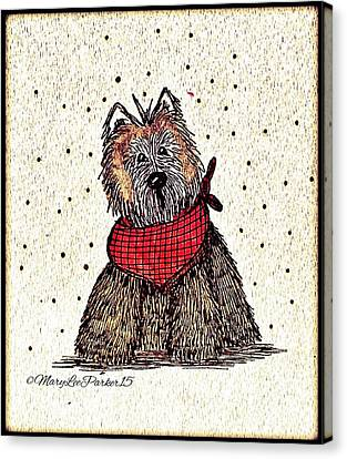 Lola The Dog Canvas Print