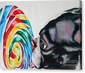 Lolli Pup Canvas Print