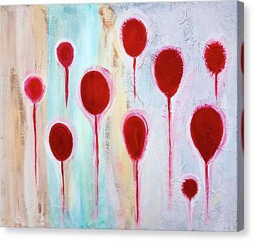 Canvas Print featuring the painting Lollipop Garden by Frank Tschakert