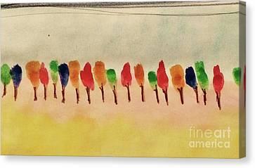 Lollipop Trees Canvas Print by Kim Nelson