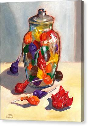 Canvas Print featuring the painting Lollipops by Susan Thomas